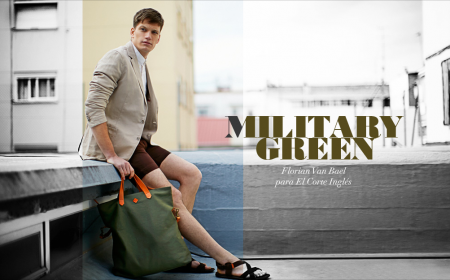 Florian Van Bael in Military Green for El Corte Ingles