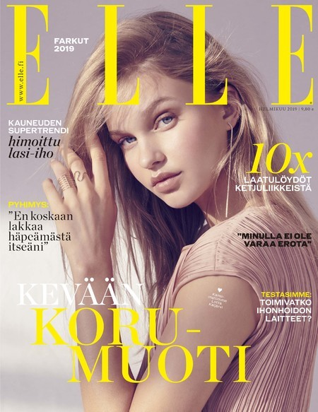 Lotta Maybelake for Elle Finland Cover January 2019